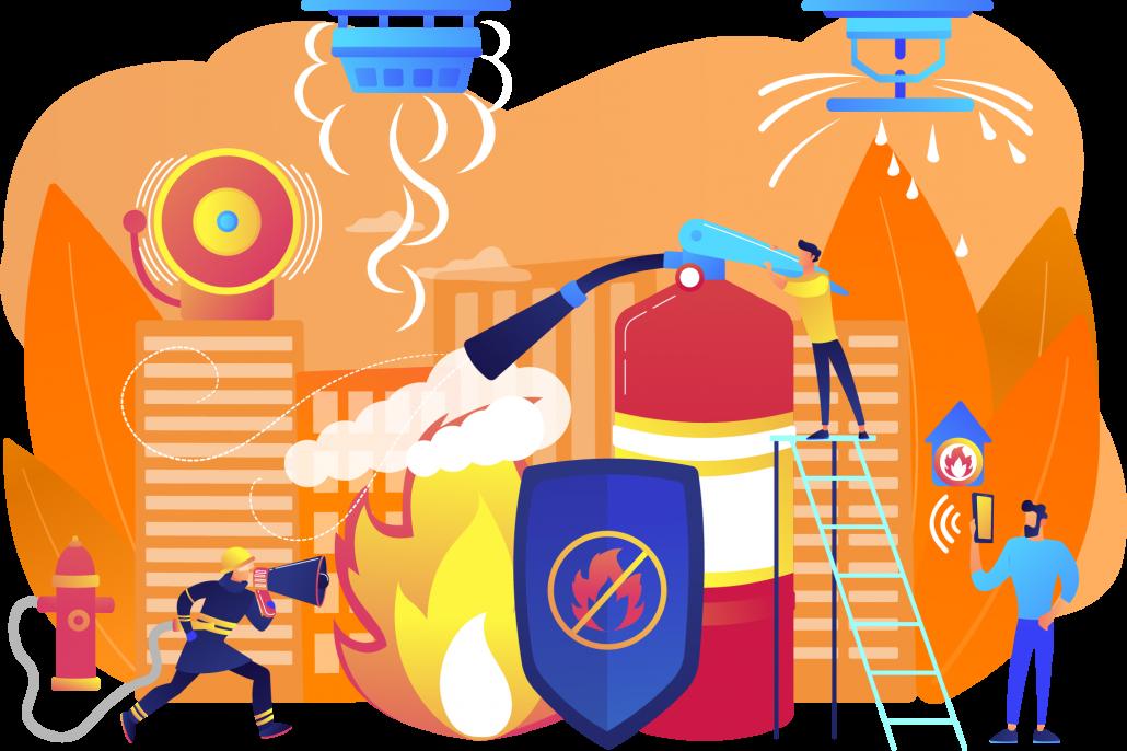 Soluções completas de prevenção e combate a incêndios