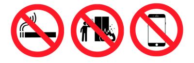 Sinalização de emergência de proibição